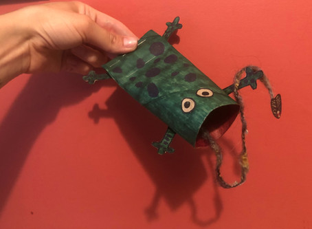 Trash To Toy: Paper Towel Roll Speckled Frog