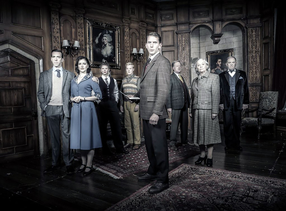 The cast of The Mousetrap at Blackpool Grand Theatre. All pics: Johann Persson