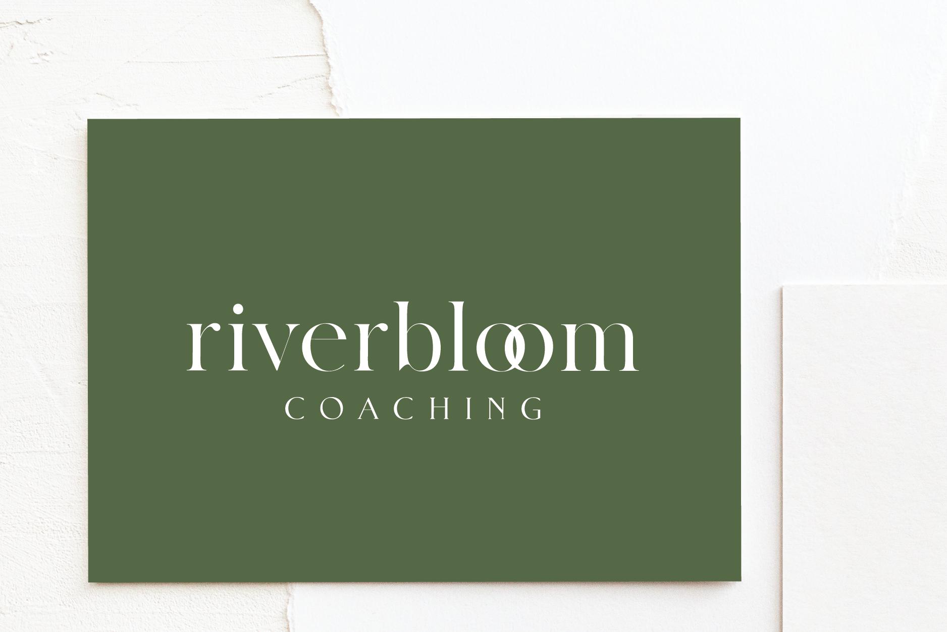 Riverbloom Coaching Branding | Brand Identity Design by Fresh Leaf Creative