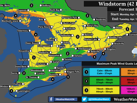 Heavy Rain, Thunderstorms, and Strong Winds Target Southern Ontario