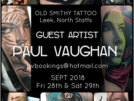 Guest Artist - Paul Vaughan - 28th & 29th Sept 2018