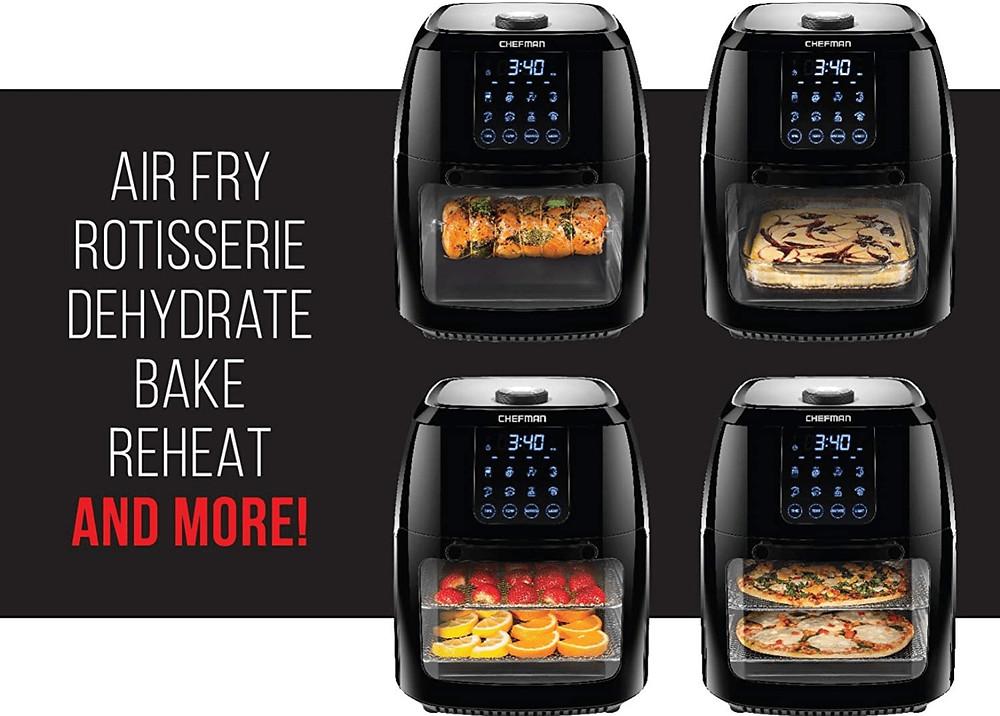 Versatility in Function of the Chefman 6.3 Quart Digital Air Fryer Rotisserie Oven