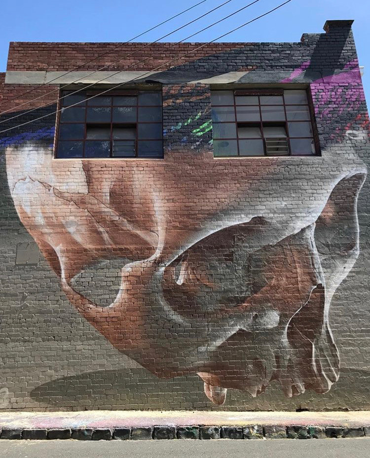 "Mural Art by Street Artist and painter Sam Bates aka ""Smug One"""