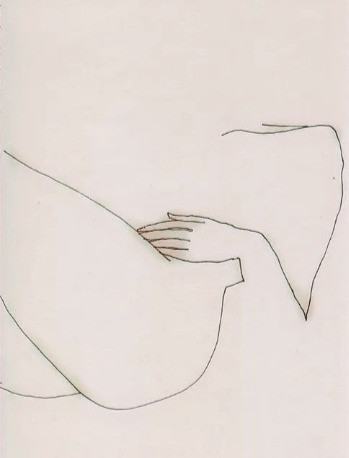 Reclining Female Nude, drawing
