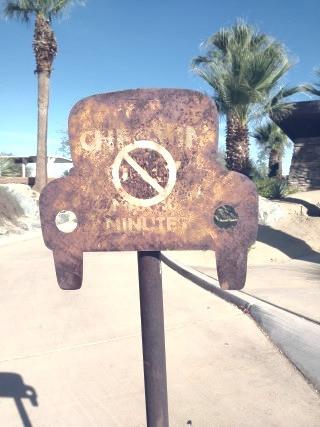 rusty sign