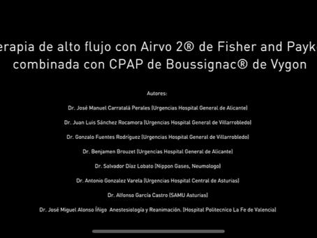 Alto Flujo Optimizado en Presión: CPAP de Boussignac asociada al AIRVO 2.