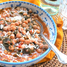 Winter Pancetta, Chick Peas & Swiss Chard Soup