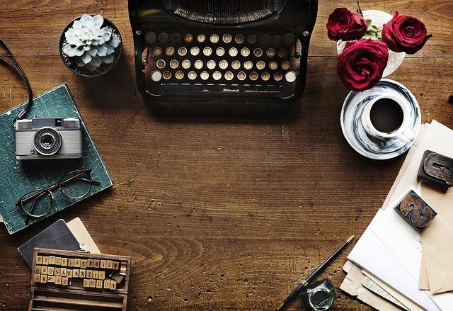 scrivania dello scrittore