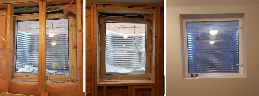 installation of egress window in basement