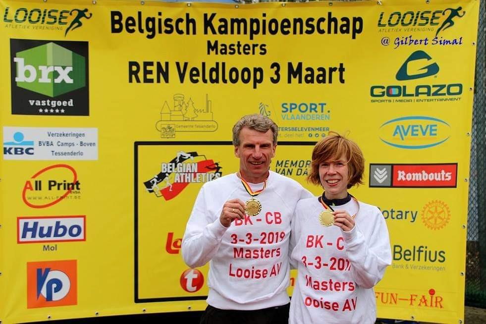 Patrick Vandebosch en Mieke Gorissen op BK Masters Tessenderlo