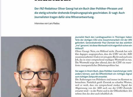 """Interview im """"Journalist"""""""