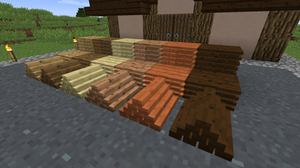 Minecraft mod More Blox Plank Piles