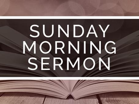 Sermon October 28, 2018