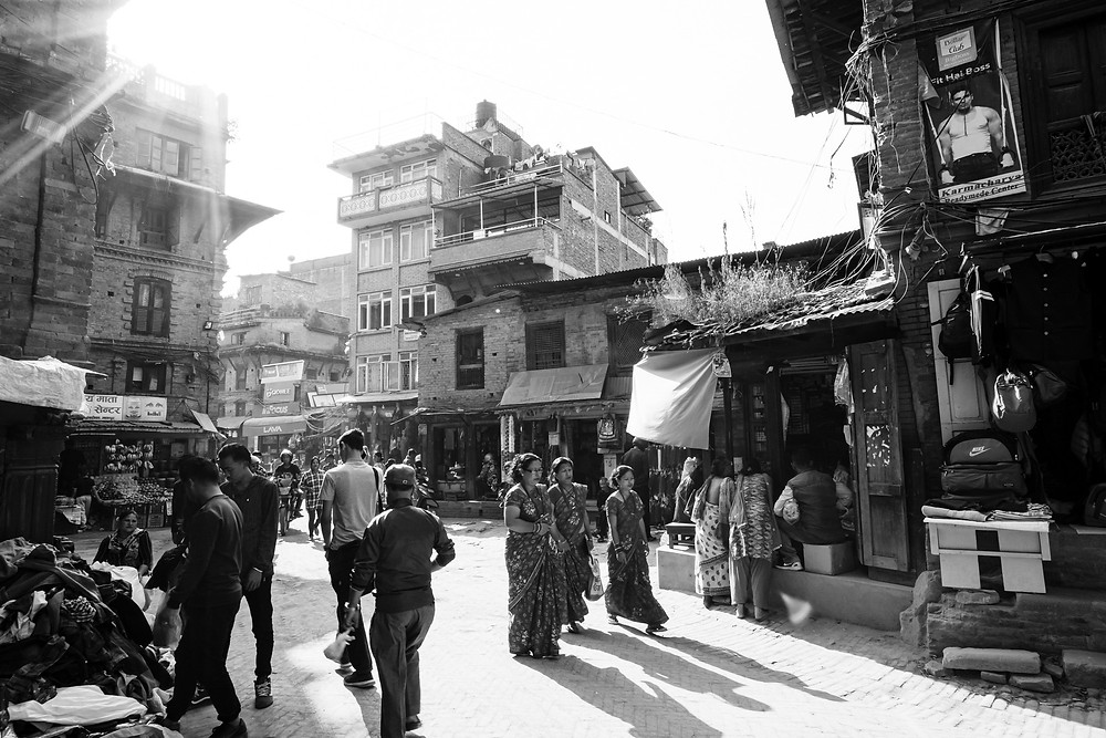 City streets in Nepal