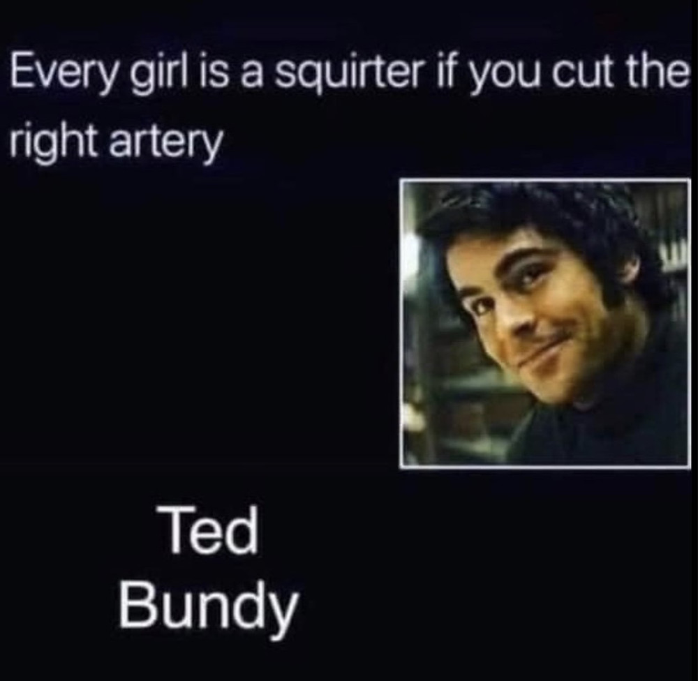 Every Girl is a Squirter You Hit the Right Artery Ted Bundy Meme
