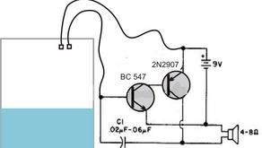 L22. Simple Water Level Alarm Circuit