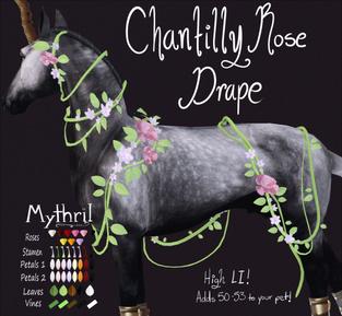 ~ Mythril ~ - Chantilly Rose Drape
