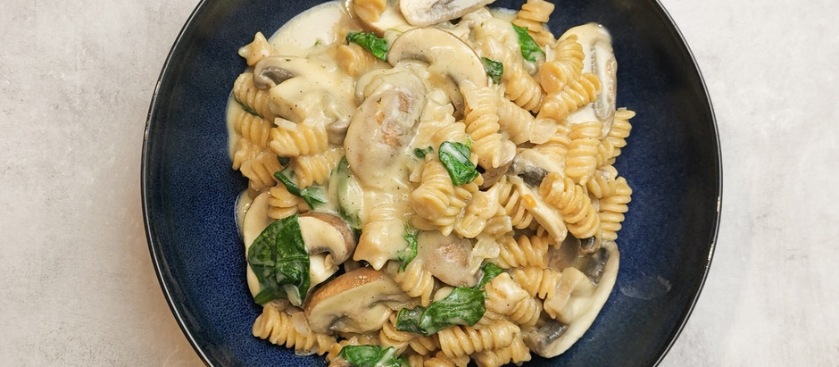Cremige One Pot Pasta - low fat, high Protein