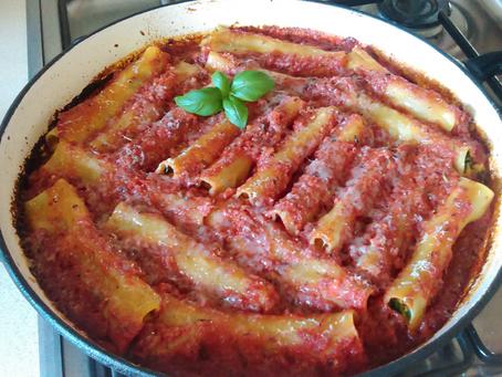 Cannelloni z dynią, szpinakiem i fetą