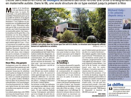 Ouverture de la classe maternelle à l'école Saint-Martin-en-forêt de Mougins