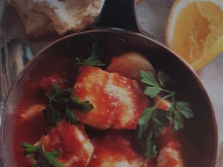 Recipe: Garlic and tomato fish stew