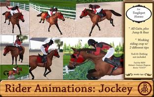 Brass Ring Ranch - TeeglePet Jockey Rider Animations