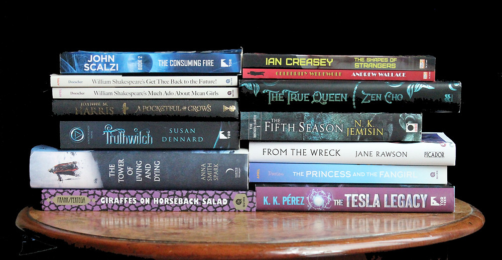 A pile of books I am working on reviewing at the moment