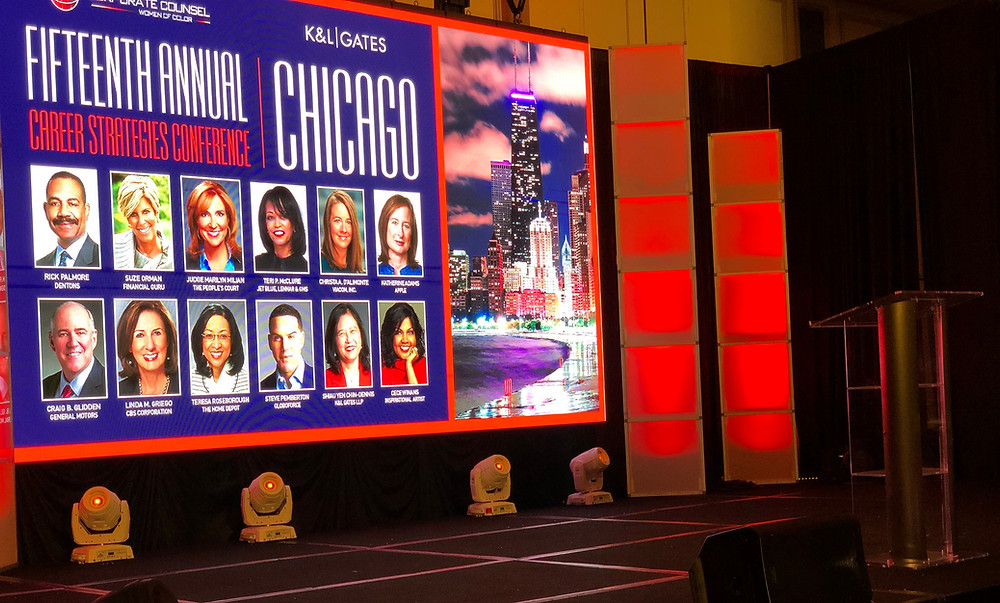 audio visual rental led video wall stage lighting design decor annual conference
