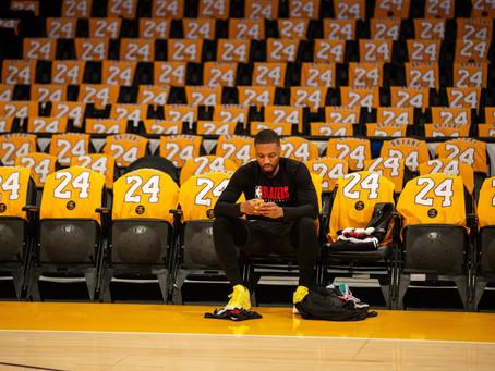 """In his name we play"" Damian Lillard has a record breaking night in honor of Kobe Bryant"