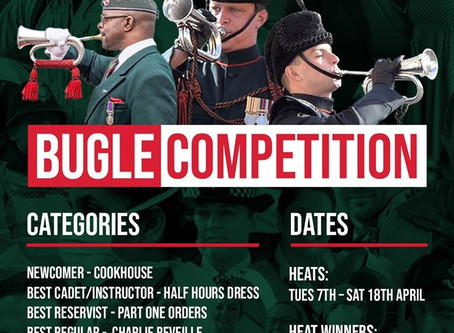 Live Final of The Rifles Virtual Bugle Competition