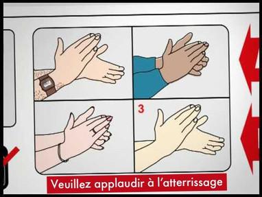 Quand les passagers des avions de ligne applaudissent à l'atterrissage