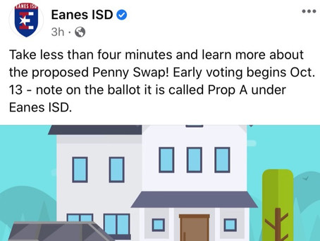 Eanes ISD Penny Swap-Prop A