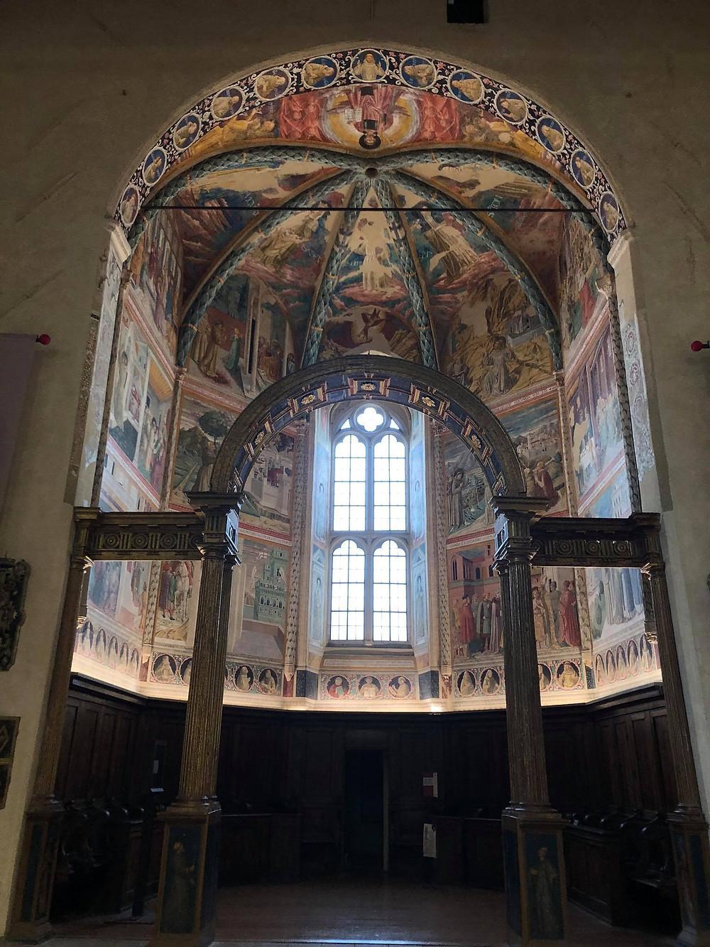 Benozzo Gozzoli decorated chapel in Montefalco Umbria Italy.