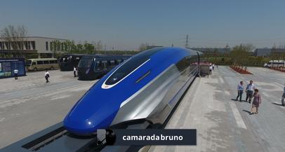 """Novo trem de levitação magnética da China pode ser """"mais rápido que ir de avião"""""""