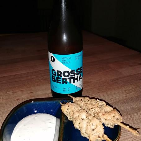Bierdegustatie witbier: Grieks gemarineerde kippenspiesjes met yoghurtdip