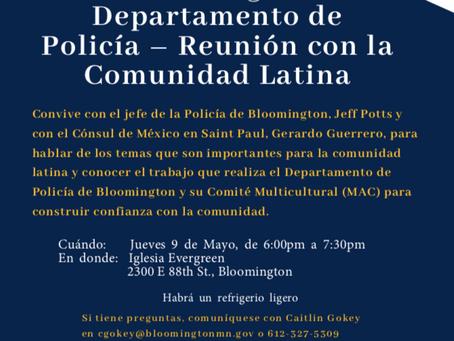 Bloomington Police Department - Latino Community Meeting