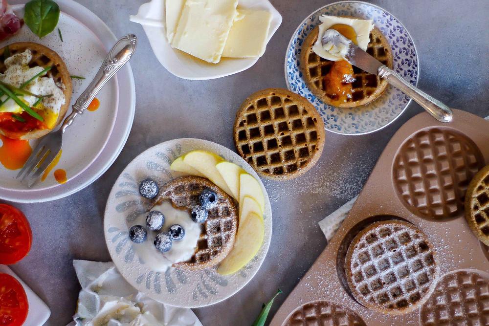 waffle integrali buon brunch ricetta facile