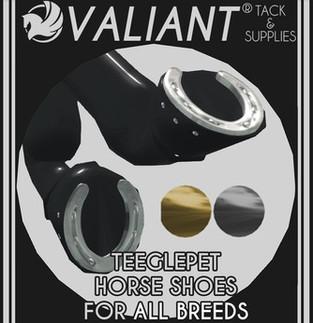 VALIANT - TeeglePet Horse Shoes