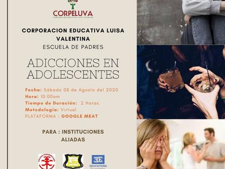 """ESCUELA DE PADRES SOBRE """"ADICCIONES EN ADOLESCENTES"""" TE ESPERAMOS!"""