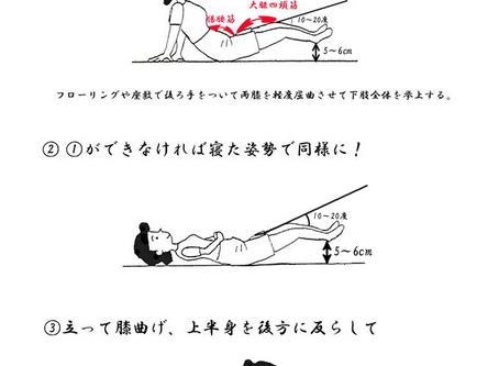膝上げ運動で腰痛・膝痛なしを目指す。