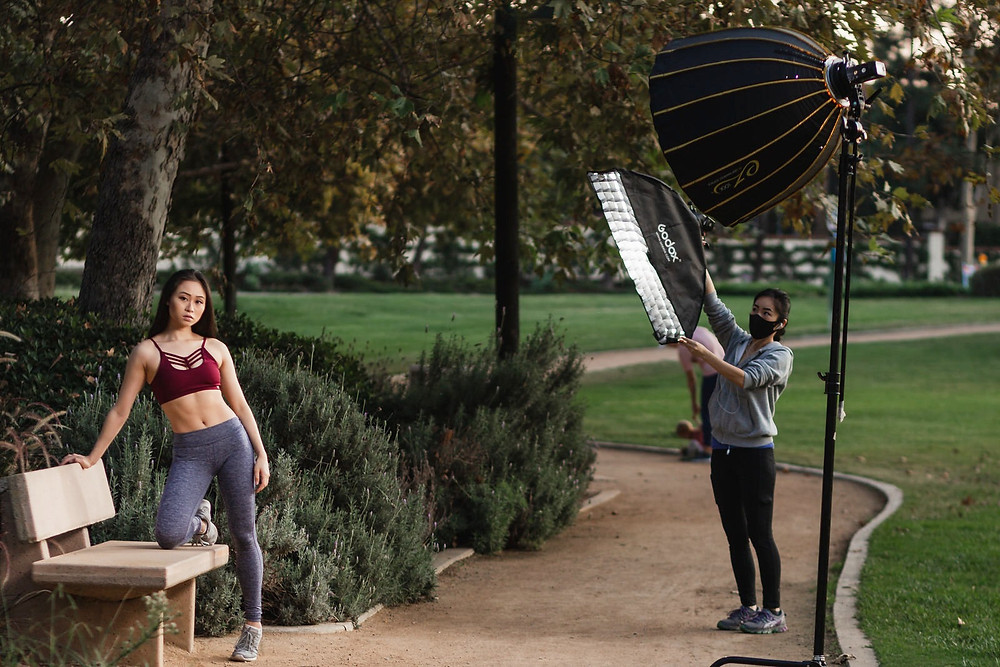 Asian Fitness Model Fashion Photographer Portrait Photography by Austen Hunter SoCal Los Angeles Photographer Outdoor Portraiture Beautiful Portrait in Nature Setting Gym Workout Apparel Trustworthy and reliable photographer Austen Hunter