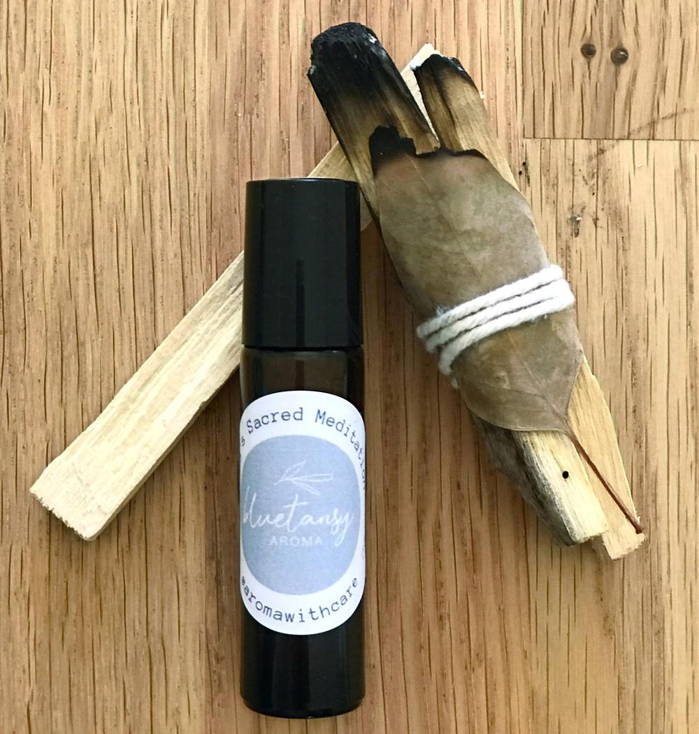 Roll-on and Palo Santo wood sticks