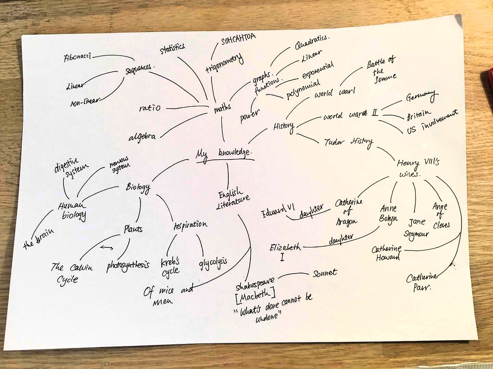 A quick sketch of the mind-map for January revision tips.