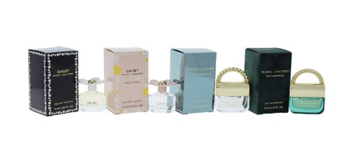Marc Jacobs Variety Mini Perfume Kit for Women, 4 Count