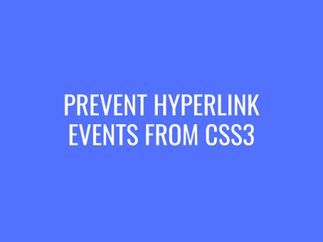 Prevent hyperlink events from CSS3