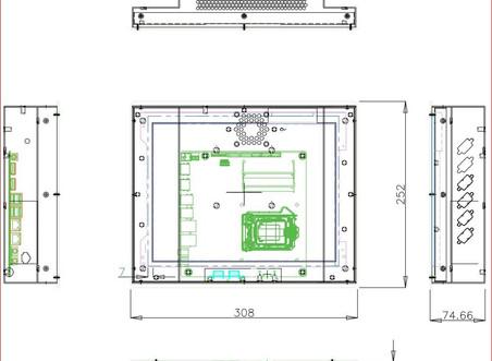 CTPN121 12.1 1024*768 정전 터치 지원 산업용 판넬PC