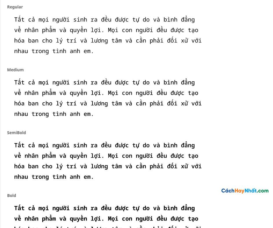 Font Noto Sans Mono