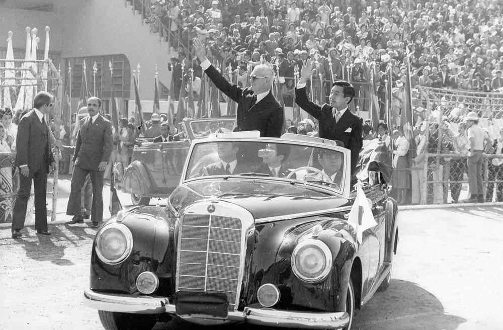 1978 - Imperador do Japão no Brasil