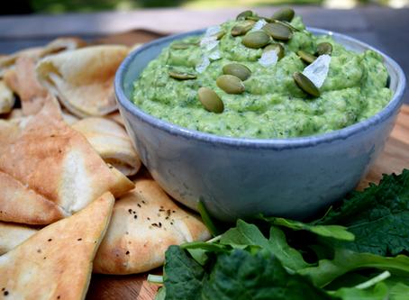 Healthiest Kale-Arugula Bean Dip