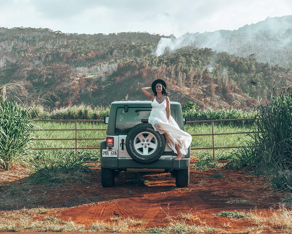 waimea falls park oahu hawaii north shore honolulu jeep